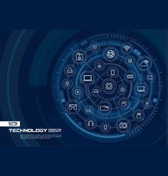 abstract technology background digital connect vector image
