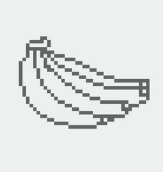 banana pixel icon in the eps 8 format vector image vector image