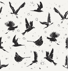 Birds pattern vector