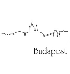 Budapest city one line drawing background vector