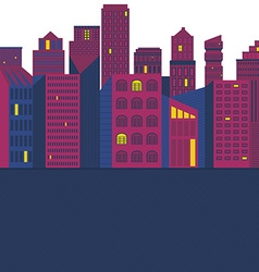 Buildings Template vector image