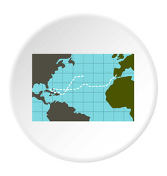 Christopher columbus voyage icon circle vector