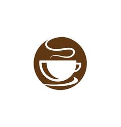 coffee cup logo template icon design vector image