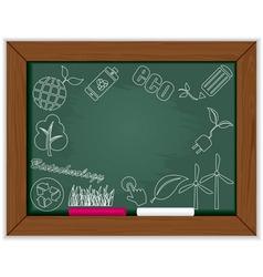 eco blackboard frame vector image