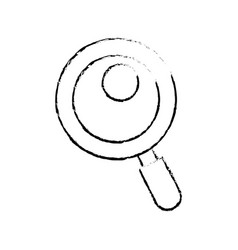 Figure magnifying glass tool to search and read vector