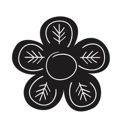Floral elegant frame icon vector