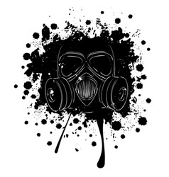 Grunge gas mask vector