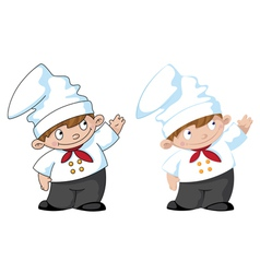 little cute cook vector image vector image