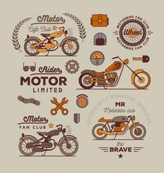 Motorbike badget set vector