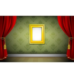 Photo Frame on Wallpaper vector image