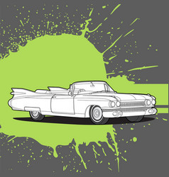 Retro car on a dark background vector
