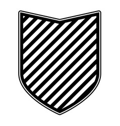 shield in monochrome and striped vector image vector image