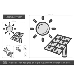 Solar energy line icon vector