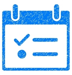 Todo list calendar day grainy texture icon vector
