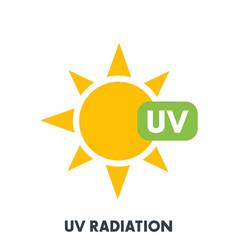uv radiation sign vector image vector image