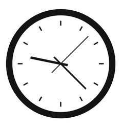Wall clock icon simple style vector