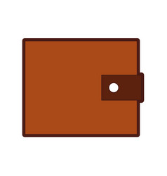Wallet money isolated icon vector