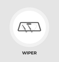 Wiper car icon flat vector