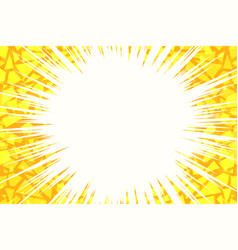 yellow light background cracked vector image