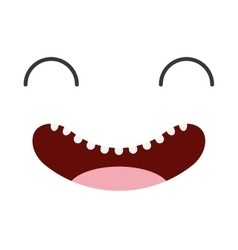 face happy emoticon icon vector image