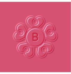 Hearts pink surround style the vector image