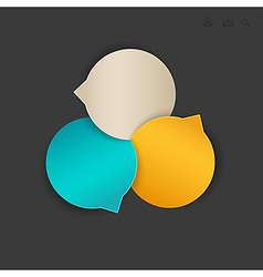 circle navigation vector image