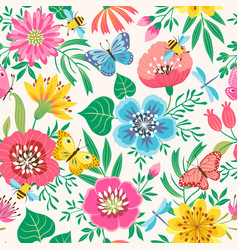 Bright flower pattern vector