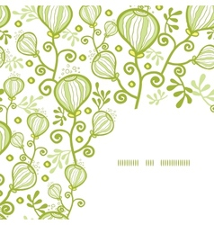 Underwater abstract plants corner frame pattern vector