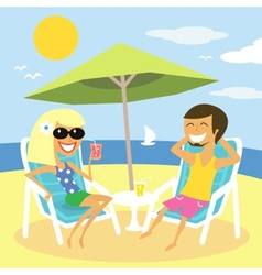 Beach summer vacation vector