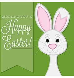 Wishing you a happy easter retro style bunny card vector