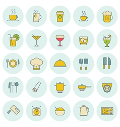 Food icons set for web site design and mobile apps vector