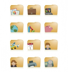 business folders vector image