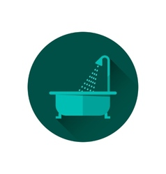 Bathtub and shower vector