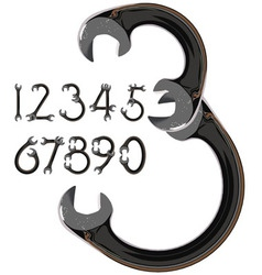 wrench numbers vector image