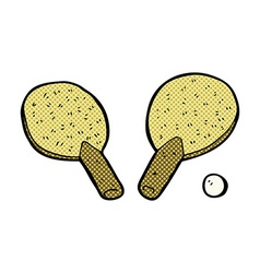 Comic cartoon table tennis bats vector