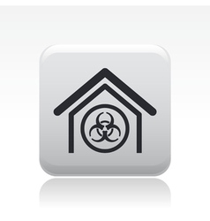 Biological danger icon vector