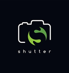 Photography logotype s letter theme vector