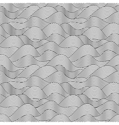 Wave Sketch Seamless Pattern vector image