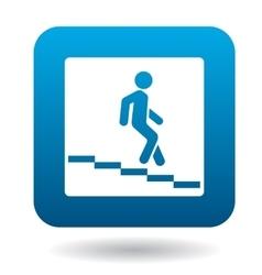 Sign escalator icon simple style vector