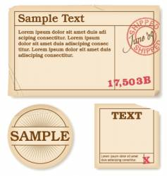 antique labels vector image vector image