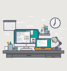 Building website table copy vector