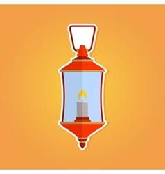 Color icon with lantern vector