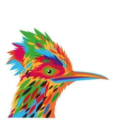 Colorful woodpecker drawing icon vector
