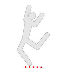 Dancer stick icon flat style vector