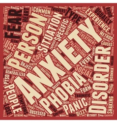 Different types of anxiety disorders text vector