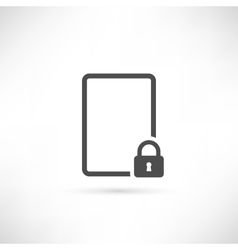 Emty lock icon vector