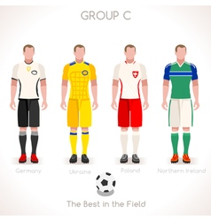 Euro 2016 group c championship vector