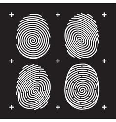 fingerprint icon set vector image vector image
