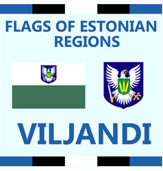 Flag of estonian region viljandi vector
