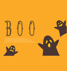 Halloween background with cute ghost vector